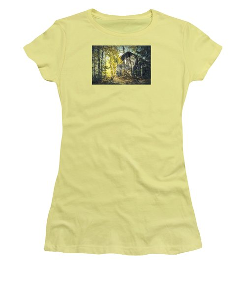 Women's T-Shirt (Junior Cut) featuring the painting By The Old Paths by Rose-Maries Pictures