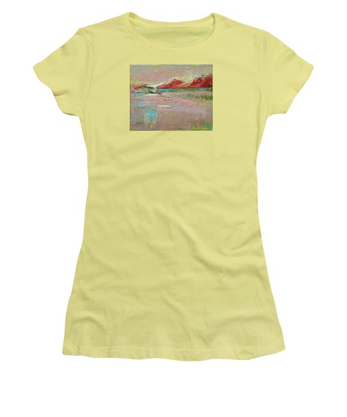 Women's T-Shirt (Junior Cut) featuring the painting By The River by Becky Kim