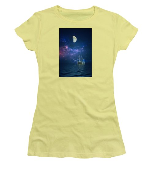 By Way Of The Moon And Stars Women's T-Shirt (Athletic Fit)