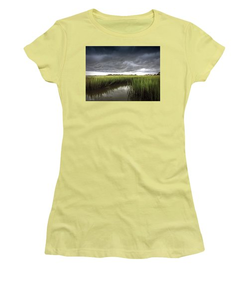 Women's T-Shirt (Junior Cut) featuring the photograph Cabbage Inlet Cold Front by Phil Mancuso
