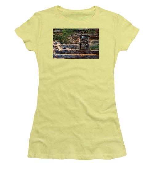 Cabin Window Women's T-Shirt (Junior Cut) by Joanne Coyle
