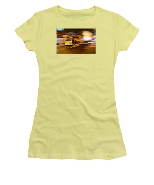 Women's T-Shirt (Junior Cut) featuring the photograph Cable Car At Light Speed by Steve Siri