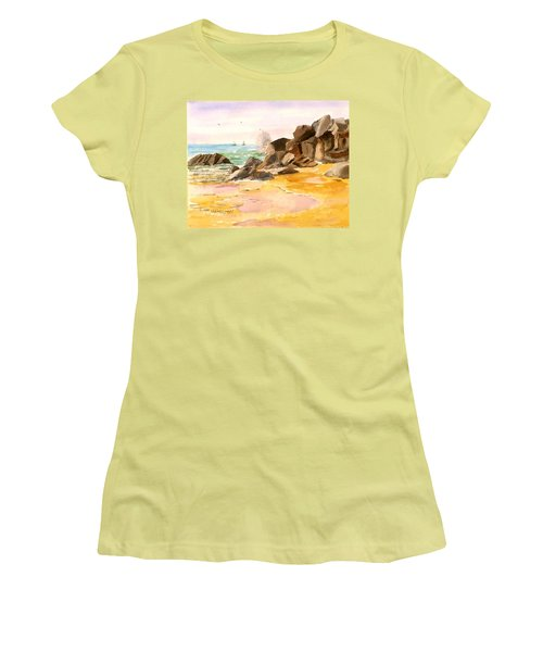 Cabo San Lucas Women's T-Shirt (Junior Cut) by Larry Hamilton