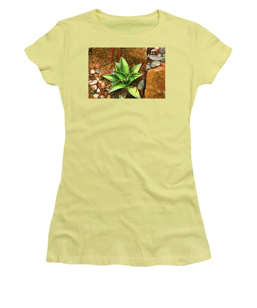 Cacti Moods In Technicolor Women's T-Shirt (Athletic Fit)