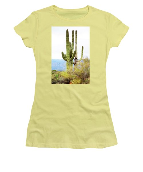 Cactus Women's T-Shirt (Junior Cut) by Angi Parks