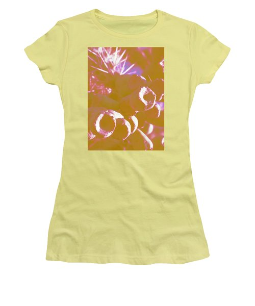 Women's T-Shirt (Junior Cut) featuring the photograph Cactus Apples In Modern Art by Carolina Liechtenstein