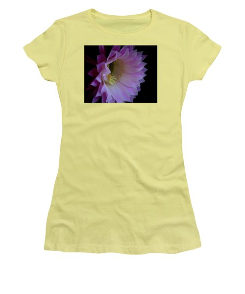 Women's T-Shirt (Junior Cut) featuring the painting Cactus Easter Lily Bright by Marna Edwards Flavell