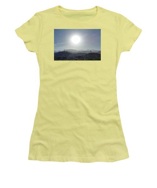 Cajon Pass Sunset Women's T-Shirt (Junior Cut) by Karen J Shine