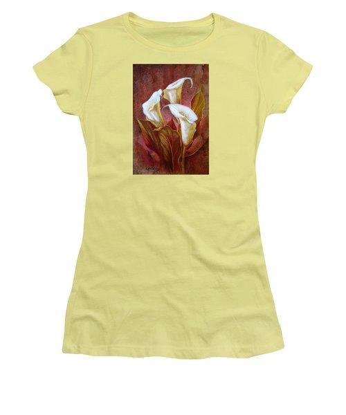 Cala Lillies Bouquet Women's T-Shirt (Junior Cut) by J- J- Espinoza