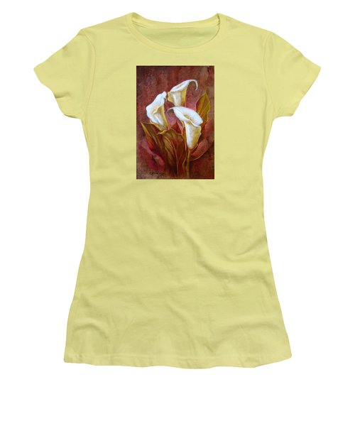 Cala Lillies Bouquet Women's T-Shirt (Athletic Fit)