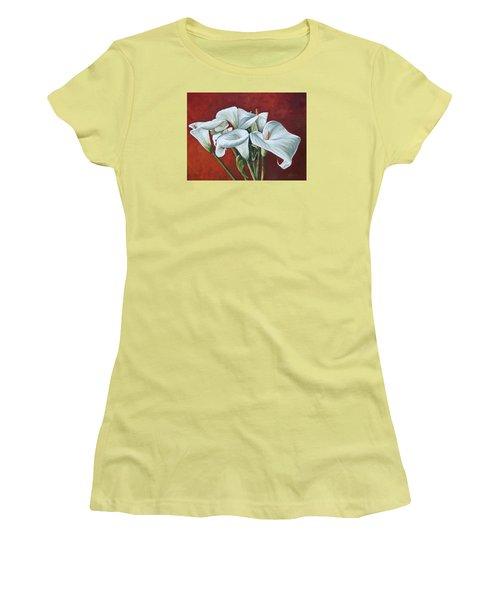 Calas Women's T-Shirt (Junior Cut) by Natalia Tejera