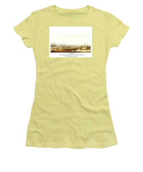 Women's T-Shirt (Junior Cut) featuring the digital art Calcutta In 18th Century by Asok Mukhopadhyay