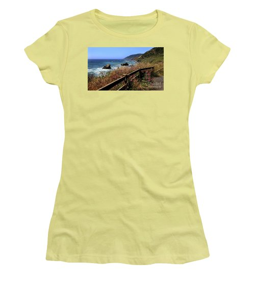 Women's T-Shirt (Junior Cut) featuring the photograph California Coast by Joseph G Holland