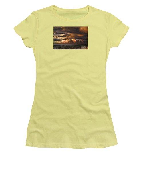 Calm Before The Storm Women's T-Shirt (Junior Cut) by Judy Wolinsky