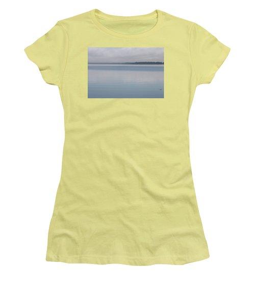 Calm Lake Women's T-Shirt (Athletic Fit)