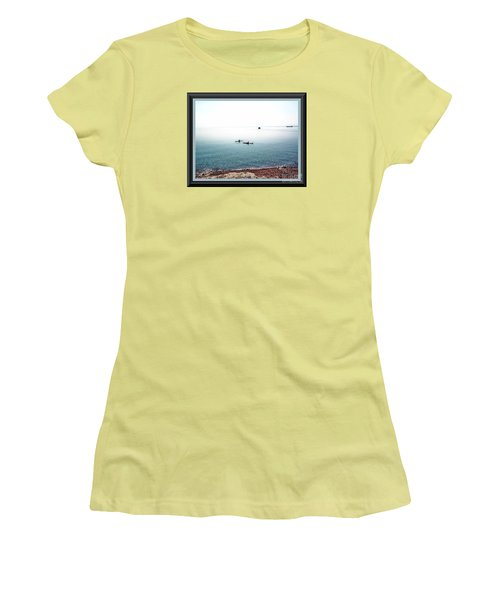 Women's T-Shirt (Junior Cut) featuring the photograph Calm Lake Superior by Shirley Moravec