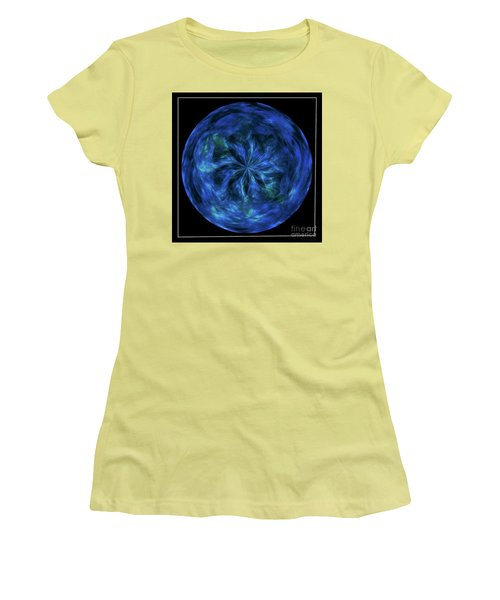 Calming Blue Orb Women's T-Shirt (Athletic Fit)