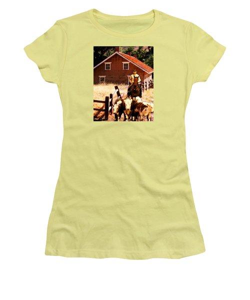 Calves Women's T-Shirt (Junior Cut) by Timothy Bulone