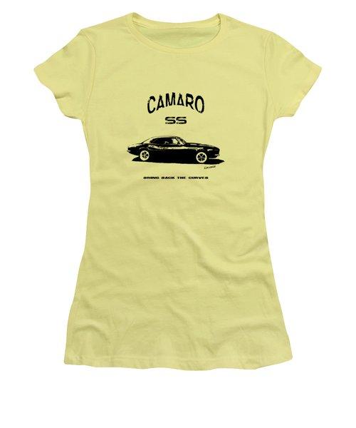 Camaro Ss V.2 Women's T-Shirt (Junior Cut) by Kim Gauge