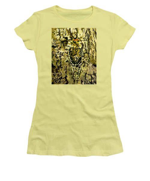 Camouflage Women's T-Shirt (Junior Cut) by Alice Leggett