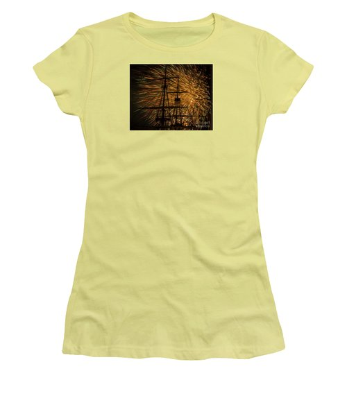 Canal Day Fireworks Finale Women's T-Shirt (Junior Cut) by JT Lewis