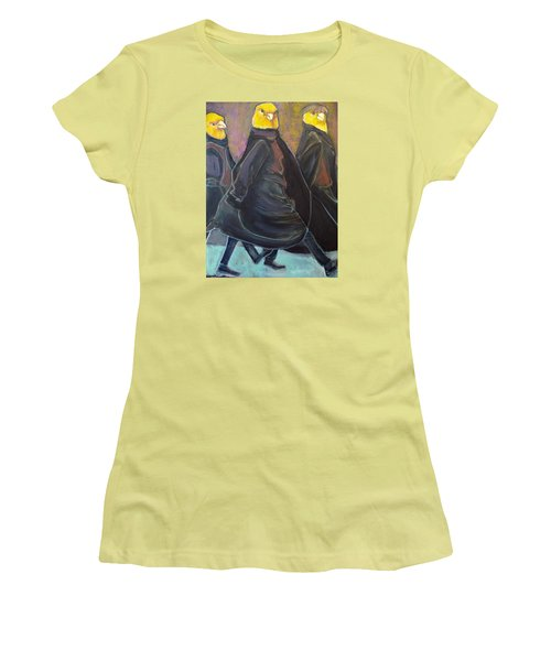 Canaries On Parade Women's T-Shirt (Athletic Fit)