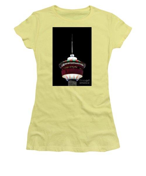Women's T-Shirt (Junior Cut) featuring the photograph Candy Cane Tower by Brad Allen Fine Art
