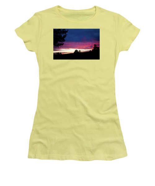Candy-coated Clouds Women's T-Shirt (Athletic Fit)