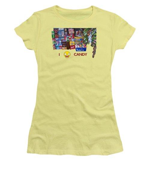 Candy Women's T-Shirt (Junior Cut) by David and Lynn Keller