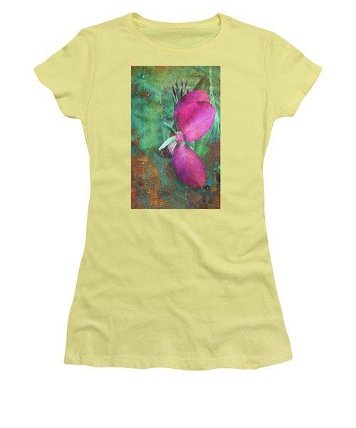 Women's T-Shirt (Junior Cut) featuring the digital art Canna Grunge by Greg Sharpe