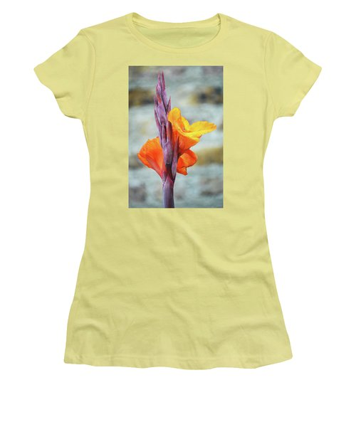 Women's T-Shirt (Junior Cut) featuring the photograph Cannas by Terence Davis