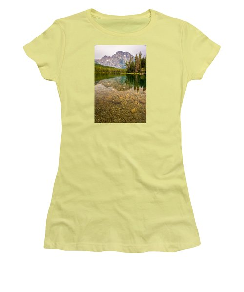 Canoe Camping In The Teton Range Women's T-Shirt (Athletic Fit)