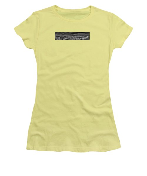 Women's T-Shirt (Junior Cut) featuring the digital art Canon City Storm Pano by William Fields