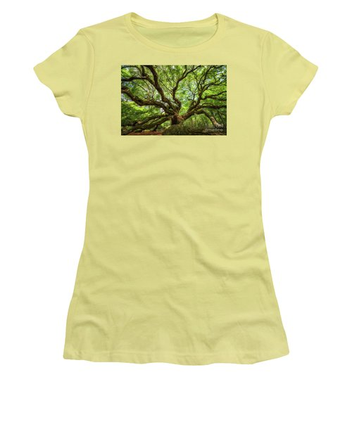 Canopy Of Color At Angel Oak Tree  Women's T-Shirt (Athletic Fit)