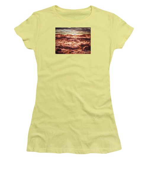 Women's T-Shirt (Junior Cut) featuring the photograph Canyon In The Painted Desert  ... by Chuck Caramella