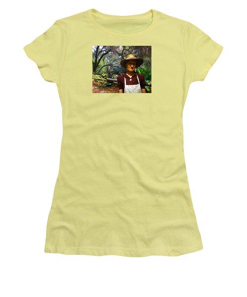 Canyon Woman Women's T-Shirt (Junior Cut) by Timothy Bulone