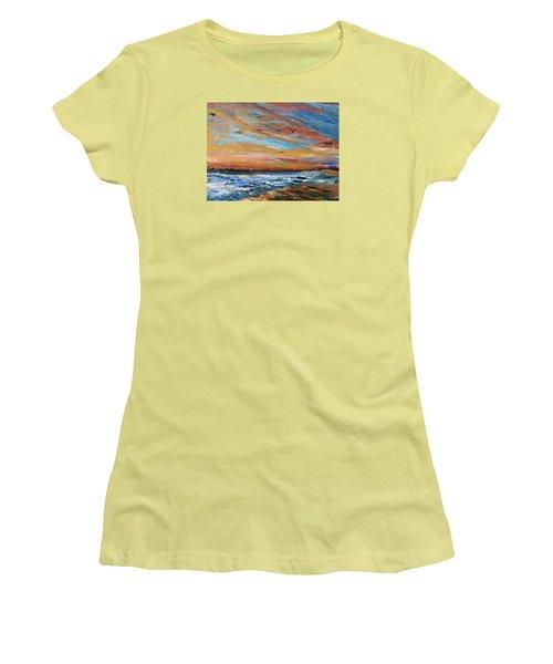 Cape Cod Sunrise Women's T-Shirt (Junior Cut) by Michael Helfen