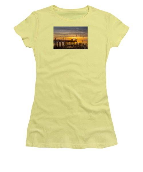Cape Fear Sunset Fort Fisher Women's T-Shirt (Athletic Fit)