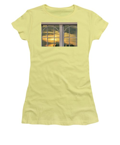 Cape May Abstract Sunset Reflection Women's T-Shirt (Junior Cut) by Gary Slawsky