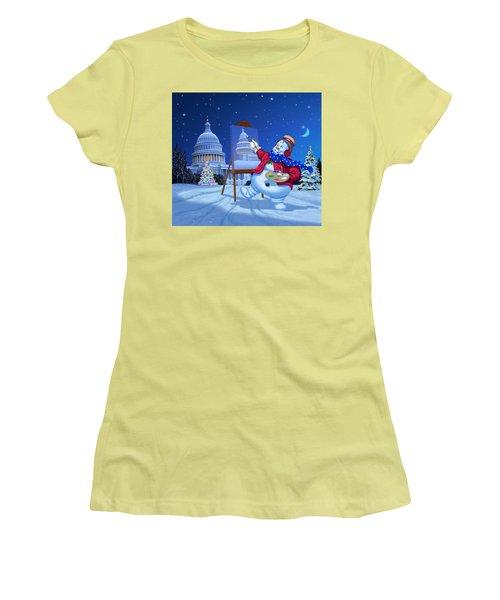 Capitol Snoman Women's T-Shirt (Athletic Fit)