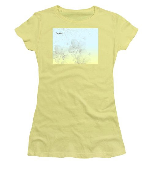 Caprice Women's T-Shirt (Junior Cut) by Trilby Cole