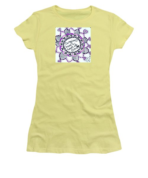 Caregiver Sun Women's T-Shirt (Junior Cut) by Carole Brecht