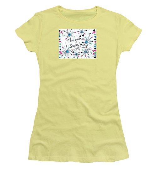 Caregivers Rock Women's T-Shirt (Athletic Fit)