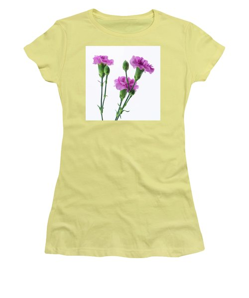 Carnations Three Lavender Women's T-Shirt (Athletic Fit)
