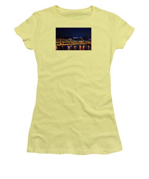 Carson Bridge At Night Women's T-Shirt (Junior Cut) by William Bartholomew