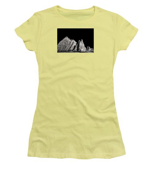 Women's T-Shirt (Junior Cut) featuring the digital art Carved By The Hands Of Ancient Gods by William Fields