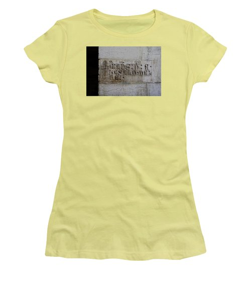 Carved In Stone Women's T-Shirt (Junior Cut) by Lorraine Devon Wilke