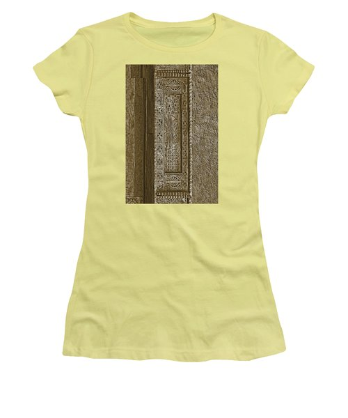 Women's T-Shirt (Junior Cut) featuring the photograph Carving - 5 by Nikolyn McDonald