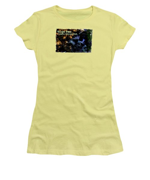 Cascade Along The Tioga Pass Yosemite Women's T-Shirt (Athletic Fit)