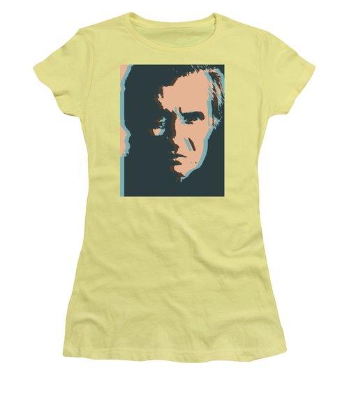 Women's T-Shirt (Junior Cut) featuring the digital art Cash Pop Art Poster by Dan Sproul